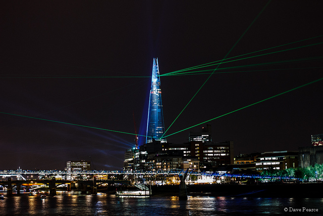 The Shard laser show - Photo by dave_bass5