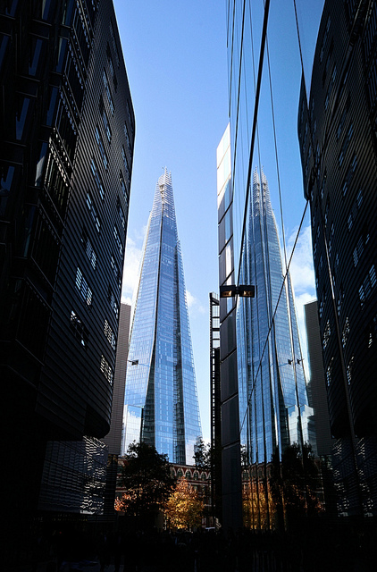 The Shard through buildings - Photo by Simon & His Camera
