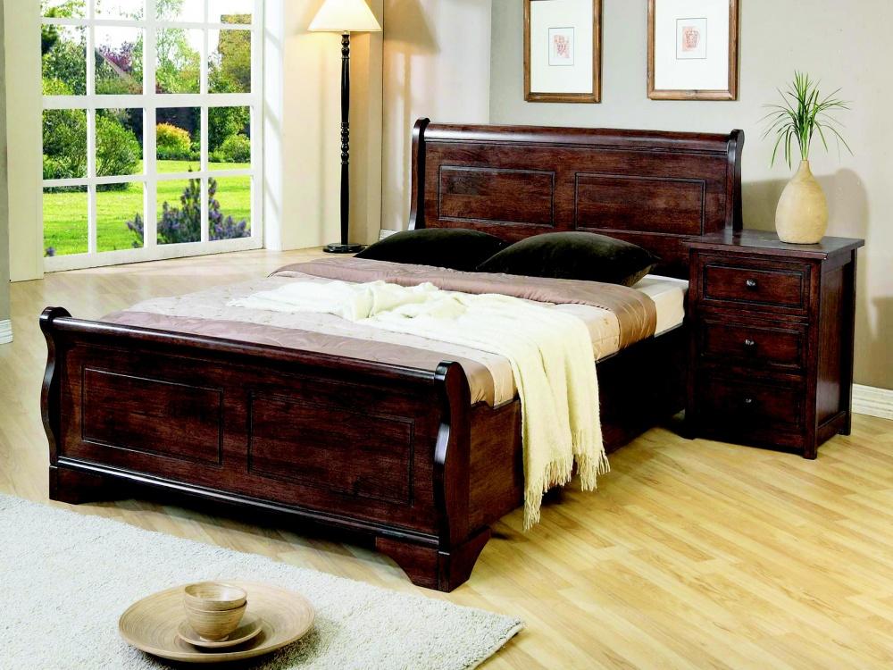 Joseph Louis Sleigh Mahagany Bed