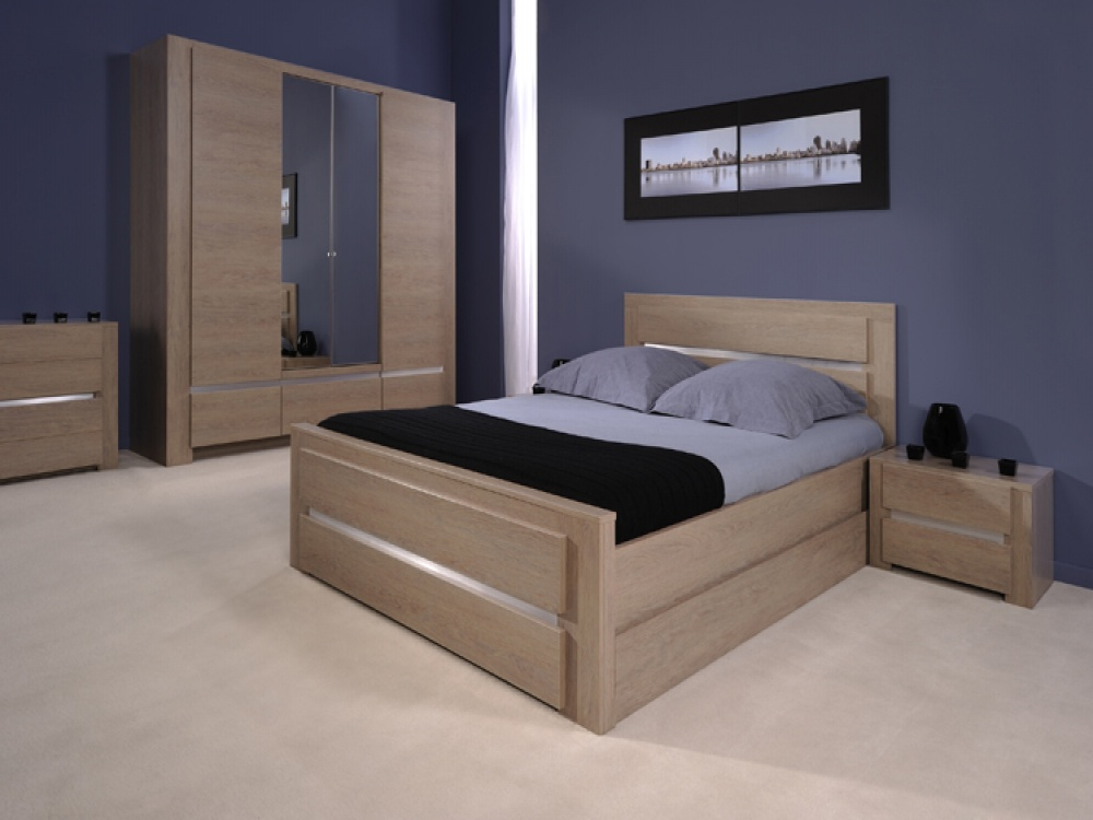 Shadow ash oak bed