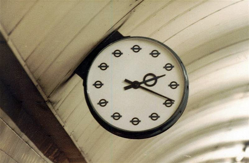 Underground Station Clock - Photo by Graham Smith