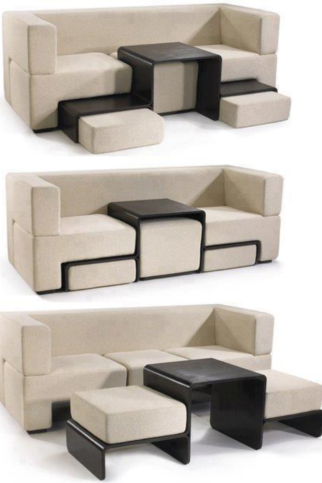 Extendable Sofa And Coffee Table