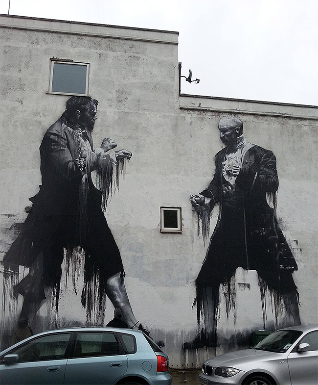 Street art in London, SE22 - Image taken from Imgur/Reddit