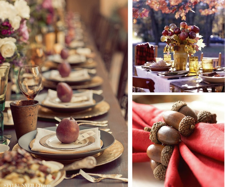 Autumn decor for table - dettaglihomedecor.blogspot.com
