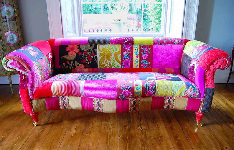 Patchwork power patchwork sofas furniture - Telas de tapizar sofas ...