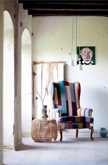 Patchwork chair/room - itemsbydesignbird