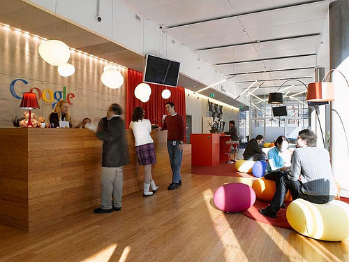 Google Zurich Office Reception - Photo by andrewarchy