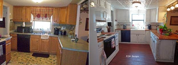 Before and after - Kitchen cabinets