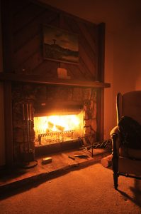 Cosy fireplace - Photo by Josef Hanning