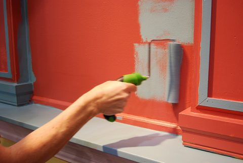 Roller painting wall - Photo by Charles & Hudson