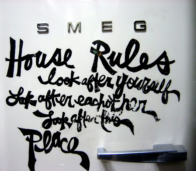 House rules - Photo by narnua