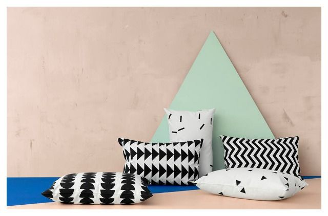 2014 Interior trend - geometric throw pillows / Ferm Living