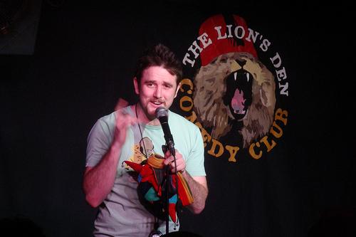 The Lion's Den Comedy club, London, Compère the 20th March - Photo by Julie Kertesz
