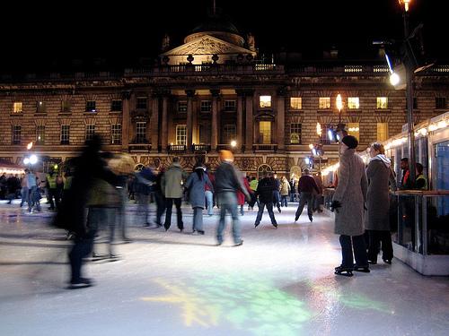 Ice Skating at Somerset House, London - Photo by Virtual Farm Boy