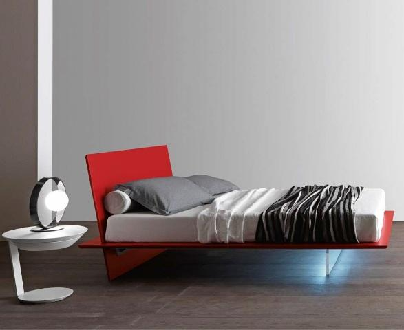 Presotto Plana floating style Italian bed contemporary stylish bedroom displays - robinsonsbeds.co.uk