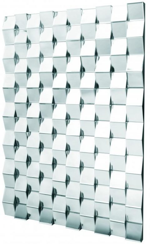 Quirky 3D brick effect wall mirror