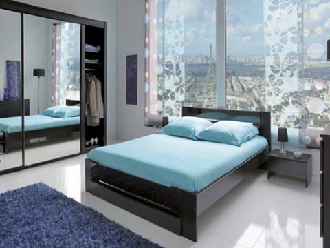Carla Black Gloss Double Bed