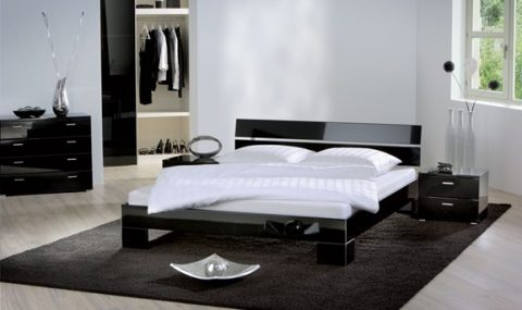 Hasena Vegas - Nuo High Gloss Modern Bed