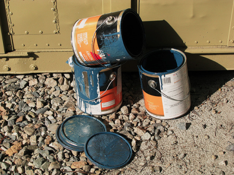 Paint cans - Photo by  Daniel R. Blume