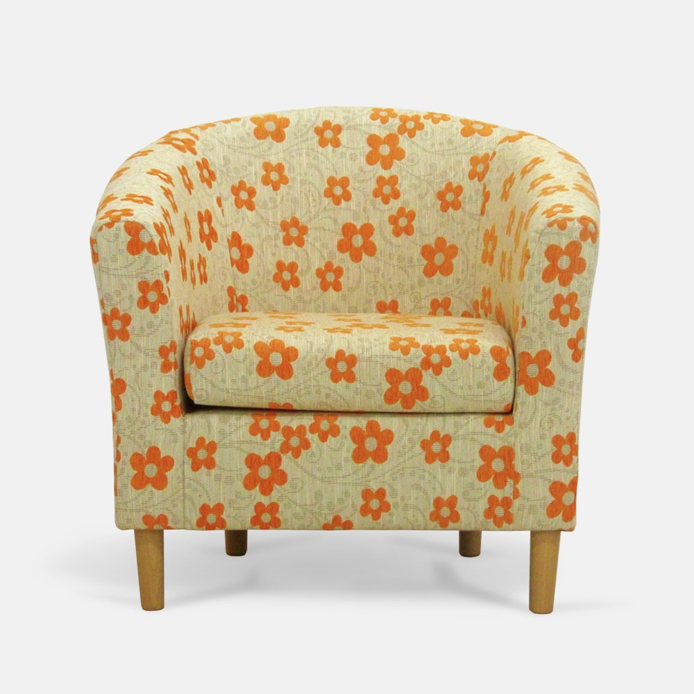 Tub chair - Woodstock Orange - Front