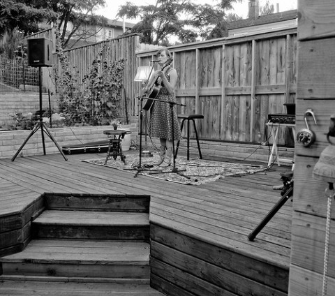 Laura Gibson Backyard Concert - Photo by Michael (a.k.a. moik) McCullough