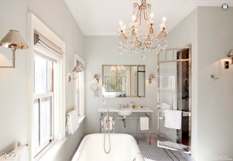 Fantastic light bathroom