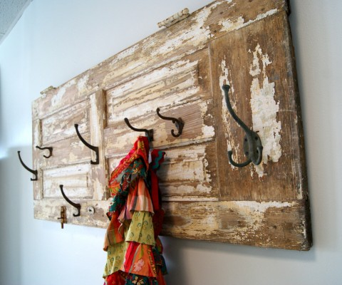 Old Doors with Vintage Hooks - Photo by ilovechartreuse.com