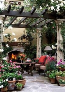 Beautiful garden patio