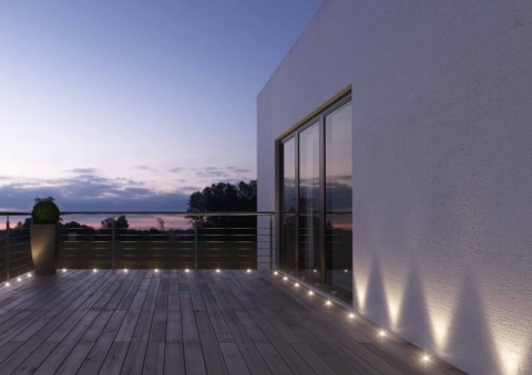 LED spots on balcony