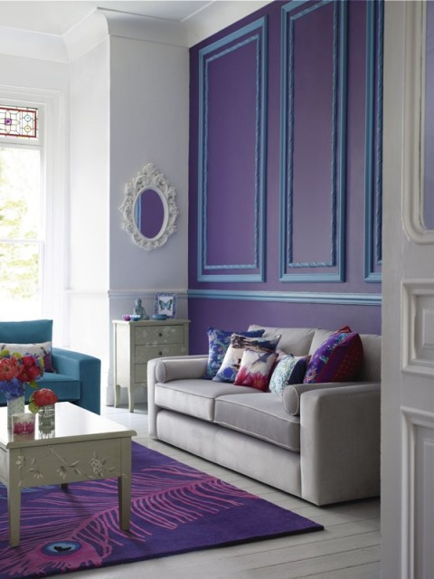 Something a little different - A fantastic purple focused living room