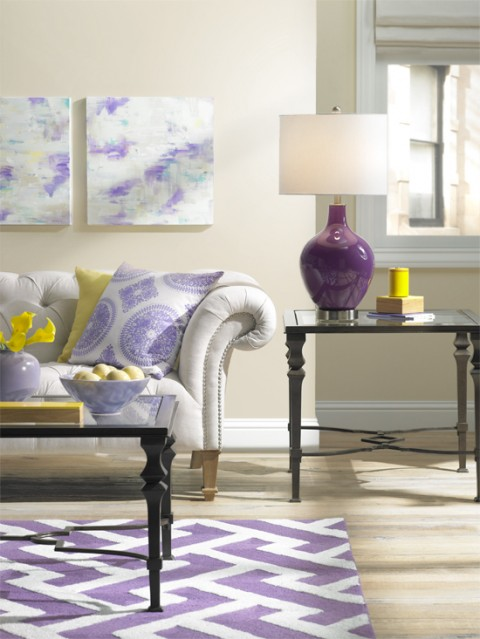 Purple with hints of yellow