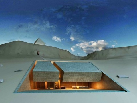 Located in Lebanon, this house was made ​​in the rock by the firm MZ