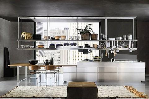 Stainless steel designer kitchen