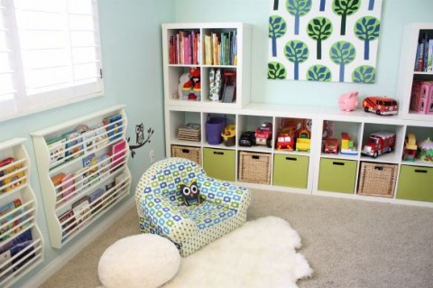 Kids bedroom with storage