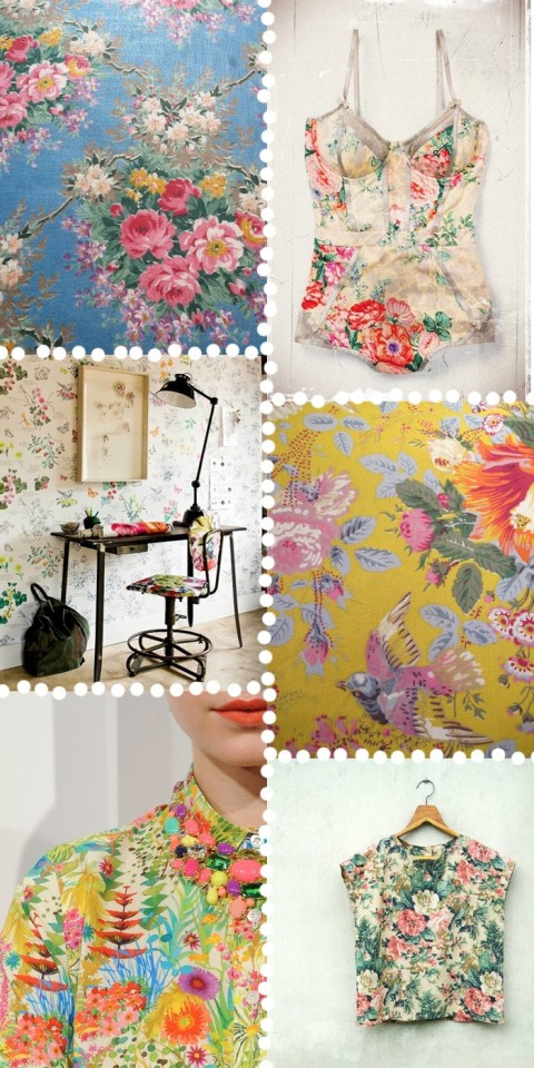 Retro floral collage - Found on kindofstyle.com