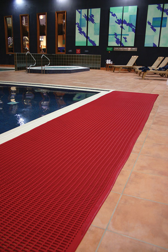 Safety first six types of floor matting for business and for Swimming pool floor
