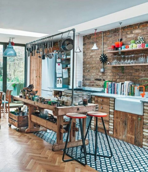Rustic eclectic warehouse loft style.
