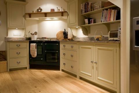 Warm modern country kitchen