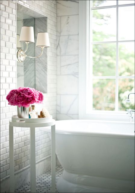 White Bathroom - photo by Houzz