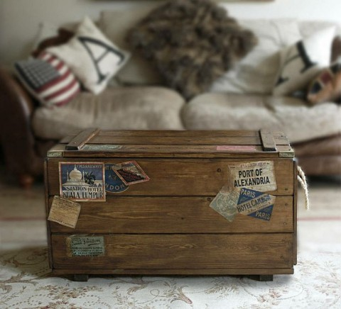Retro travel trunk