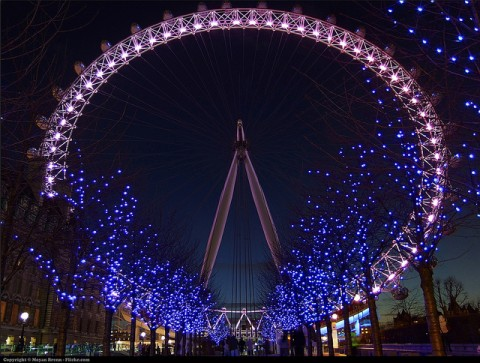 Christmas London Eye - by Moyan Brenn
