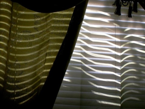 Curtains and venetian blinds
