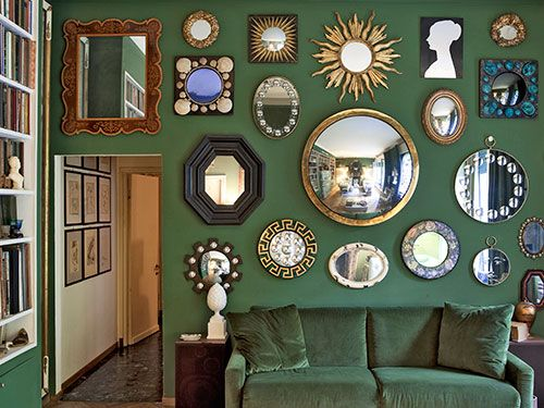 Creative decorating with mirrors for Wall of mirrors