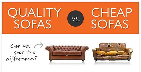 Infographic: Cheap Sofas vs Quality Sofas