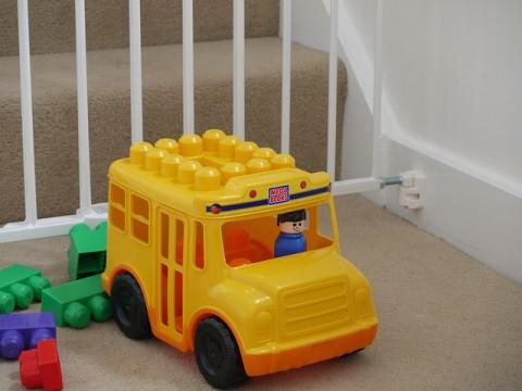 Child Safety Gate and Toys - By Carol Brazel