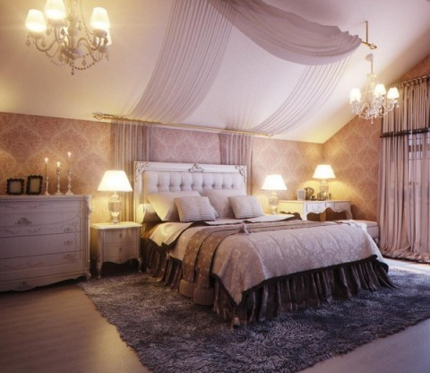 Sensual Boudoir Bedroom With Warm Lighting
