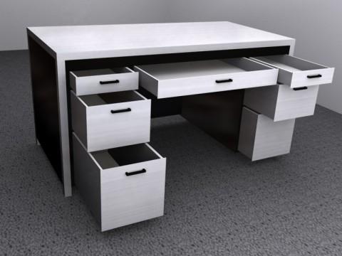 Metal Desk Render by Picolini