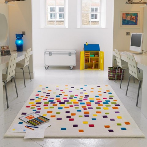 Spacedust rug - White