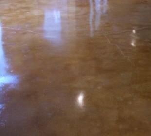 Brown Coloured Concrete Floor