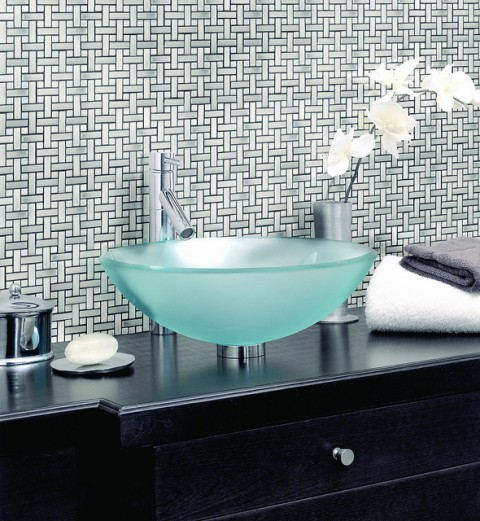 Stylish Round Frosted Glass Sink